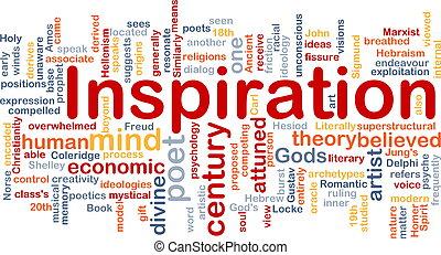 Inspirations-Hintergrundkonzept