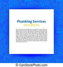 installateurarbeit, dienstleistungen, papier, schablone