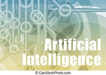 intelligenz, abstrakt, künstlich