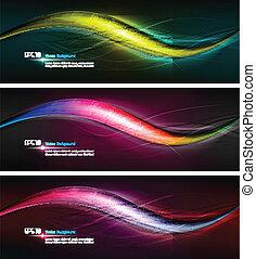 Intensive Farben à wavy-Banner Illustration