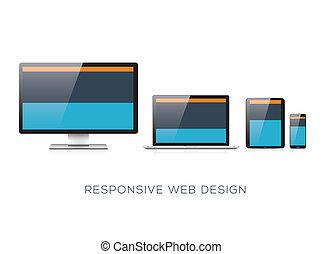 interessiert, völlig, web, scalable, desig