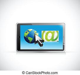 Internationale E-Mail-Kommunikation Illustration.