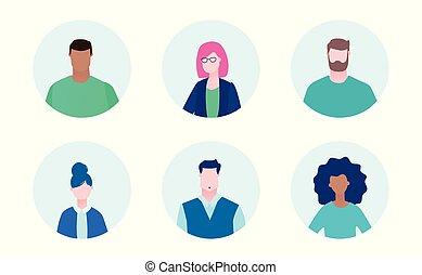 Internationales Business-Team - Flat Design-Stil Illustration