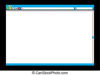 Internet-Browser blau Schieber.