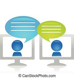 Internet-Gespräch