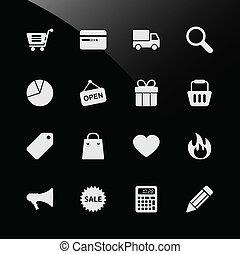 Internet-Ikonen für den Handel
