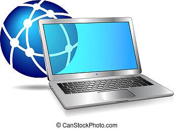 Internet-Netzwerk-Computer-Icon.