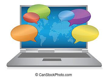 Internet-Sozialmedien-Konzept