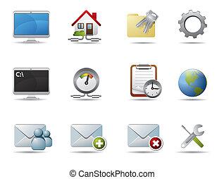 Internet und Netzwerk-Ikonen
