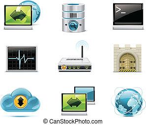 Internet und Netzwerk-Ikonen. P.1