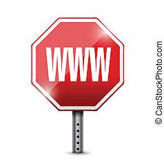 Internet www Zeichen Illustration Design.