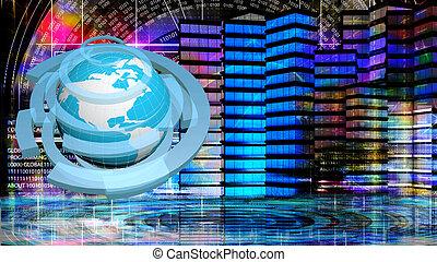 Internet.globalisierung digitale Verbindungstechnik