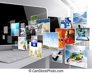 Internetstreaming-Bilder
