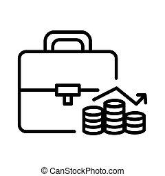 Investment portofolio Illustration Design.