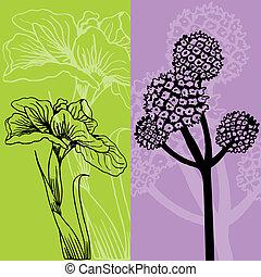 Iris-Blume