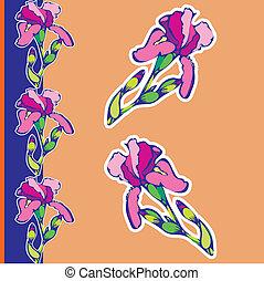Iris-Blume.