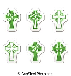 Irisch, keltische Kreuzvektor.