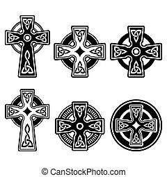 Irisch, keltisches Kreuz.