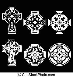 Irisch, keltisches weißes Kreuz.