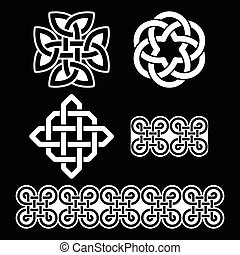 Irische weiße Muster.