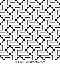 Islamisches Muster nahtlose Ornamente