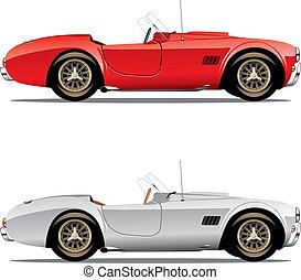 Isolierte Cabrio-Autos