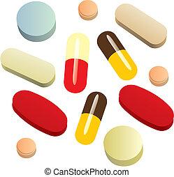 Isolierte Schmerzmittelpillen