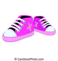 Isolierte Schuhe.