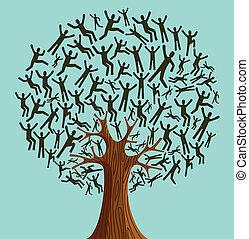 Isolierte Vielfalt von Baummenschen