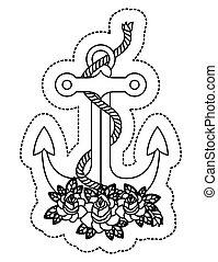 Isolierter Anker mit Seildesign