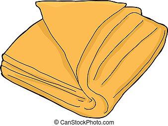 Isoliertes oranges Handtuch.