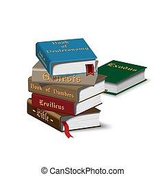 Isomerische Bücher stapeln