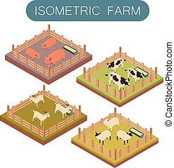 Isomerische Bauerntiere.