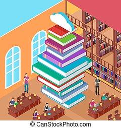 Isomerische Bibliothek. Stapelbücher. Konzeptwissen