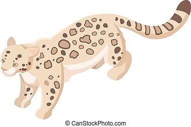 Isomerische Schnee Leopard.