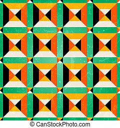Isomerisches, nahtloses Muster im Retro-Stil.