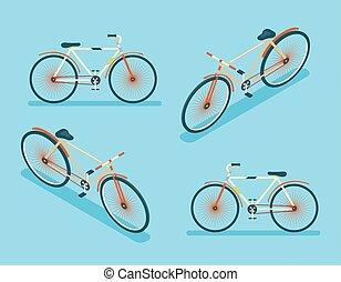 Isometric Bike Icon 3d Symbol flaches Design Vorlage Vektor Illustration.