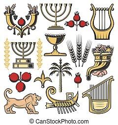 Israel symbolisiert die Religion des Judentums, die jüdische Kultur