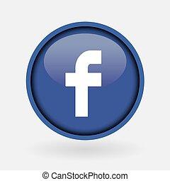 Istanbul, Türkei - 2. März 2019: Sammlung der beliebten Social Media Logo gedruckt auf Weißpapier: Facebook.