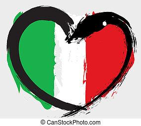 Italienische Grungeflagge