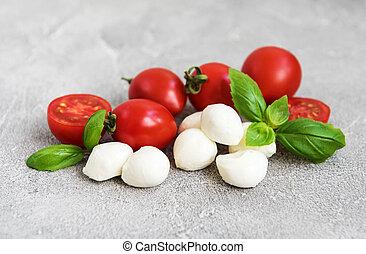 Italienische Lebensmittelzutaten.