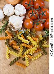 Italienische Tritolore-Pasta
