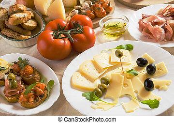Italienische Vorspeise.