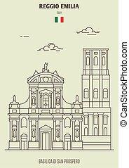 italy., emilia, san, reggio, grenzstein, basilika, prospero, ikone, di