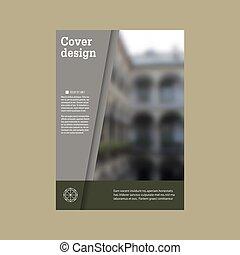 Jährliche Reportbroschüre Vektor-Design-Temploration Vektor, Leaflet Cover Präsentation abstrakt flachen Hintergrund.