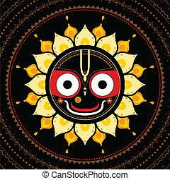 Jagannath. Indischer Gott des Universums.