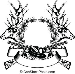 Jagdrahmen mit Hut
