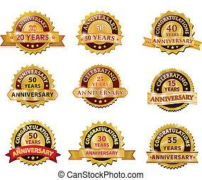 Jahrestagsgoldabzeichen gesetzt