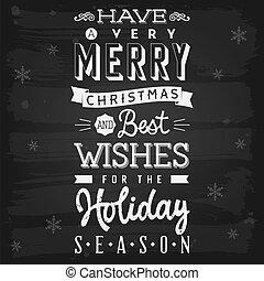 jahreszeit, feiertag, grüße, tafel, weihnachten