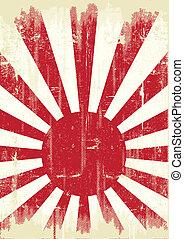 japan, grunge, fahne